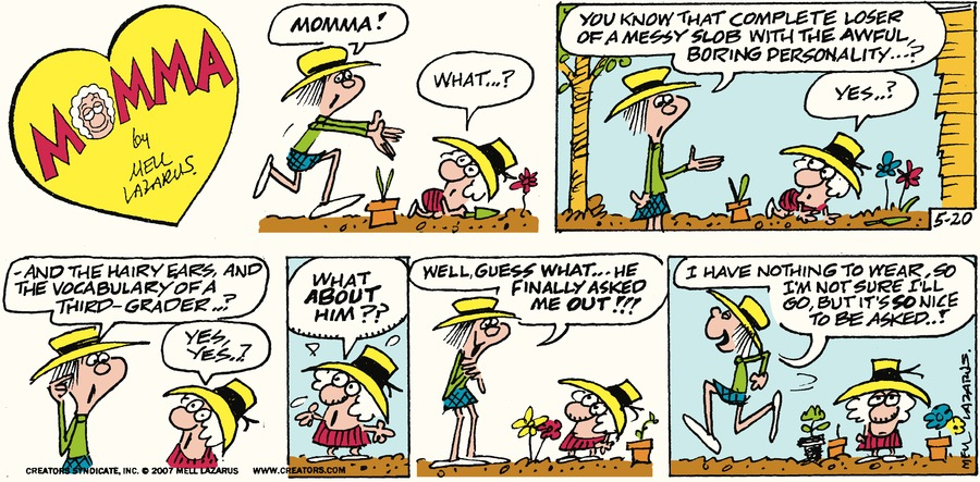 Momma Comic Strip for May 20, 2018