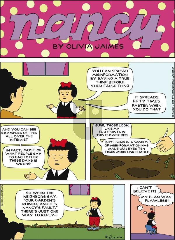 Nancy - Sunday March 8, 2020 Comic Strip