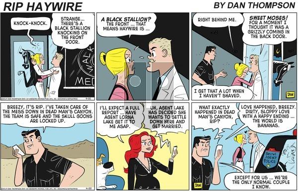 Rip Haywire on Sunday August 16, 2020 Comic Strip