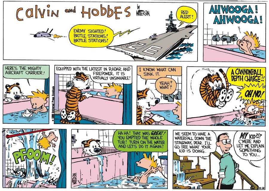 Calvin and Hobbes Comic Strip for November 02, 1986