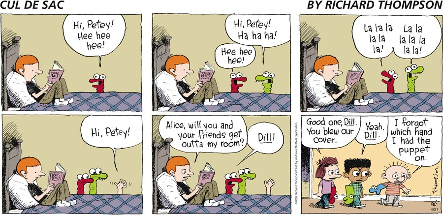 Cul de Sac Comic Strip for April 21, 2019