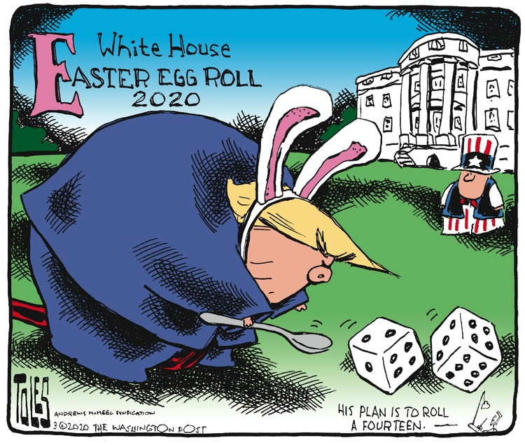 Tom Toles Comic Strip for March 29, 2020