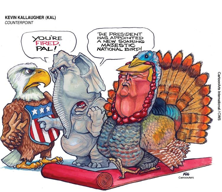 Kevin Kallaugher Comic Strip for November 10, 2019