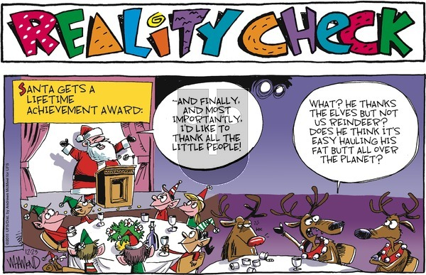 Reality Check on Sunday December 23, 2018 Comic Strip