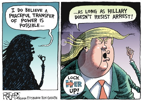 Rob Rogers on Sunday October 23, 2016 Comic Strip