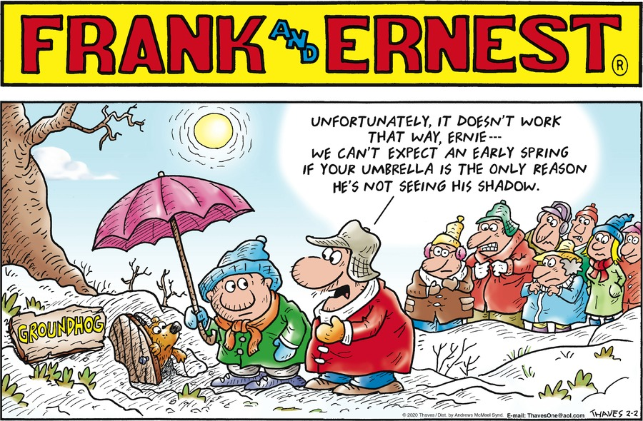Frank and Ernest Comic Strip for February 02, 2020