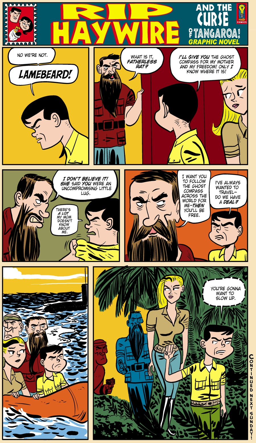 Rip Haywire Comic Strip for April 20, 2014
