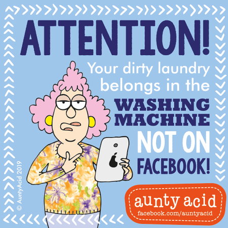 Aunty Acid by Ged Backland for March 22, 2019