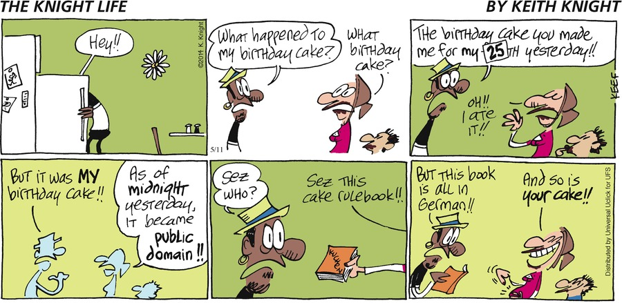 The Knight Life Comic Strip for May 11, 2014