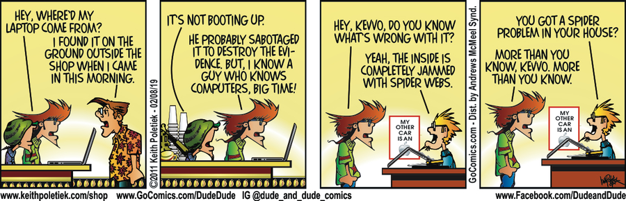 Dude and Dude Comic Strip for February 08, 2019