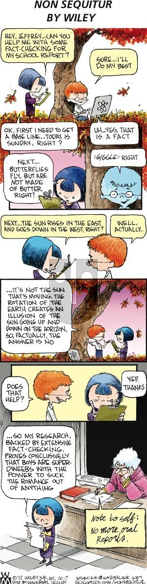 Non Sequitur on Sunday October 7, 2012 Comic Strip