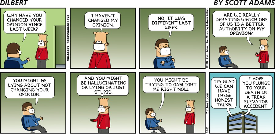 Authority On Your Opinion - Dilbert by Scott Adams