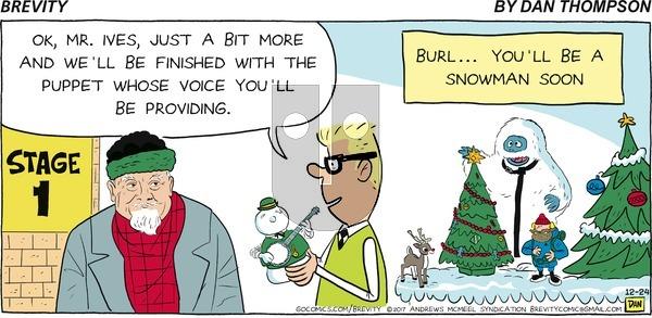 Brevity on Sunday December 24, 2017 Comic Strip