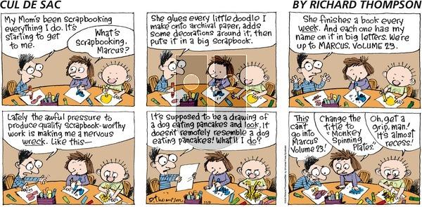 Cul de Sac on Sunday November 9, 2008 Comic Strip