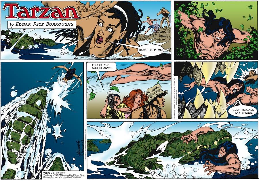 Tarzan Comic Strip for August 04, 2019
