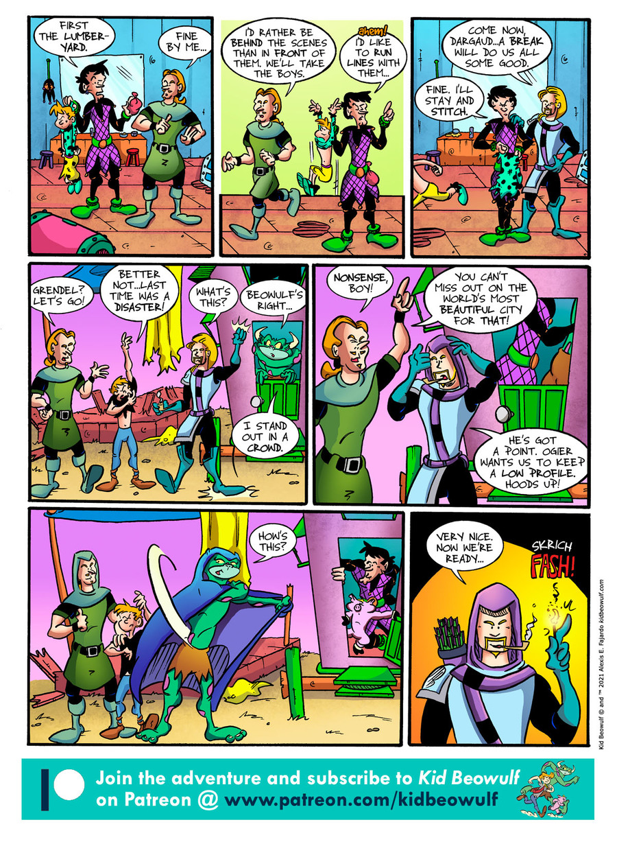 Kid Beowulf Comic Strip for April 14, 2021