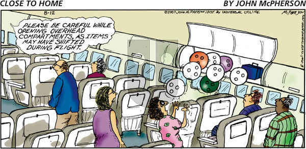 Close to Home on Sunday August 12, 2012 Comic Strip