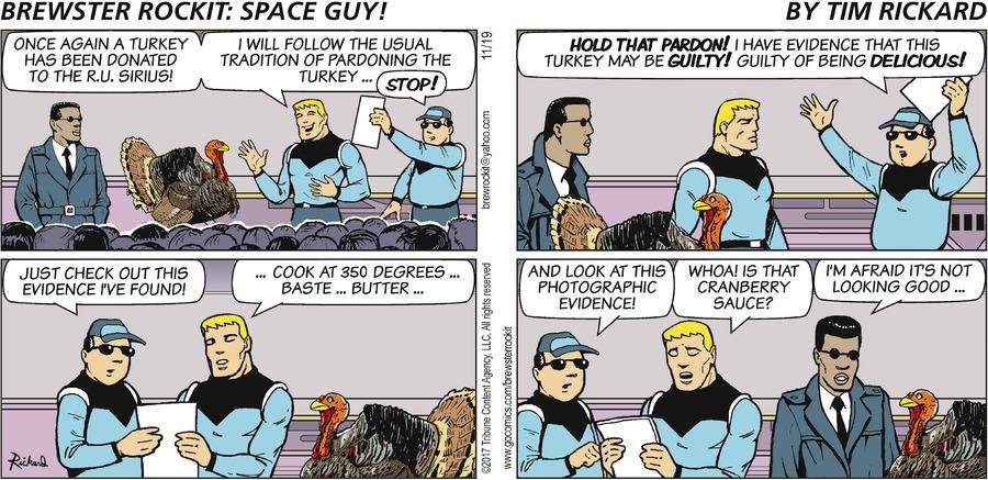 Brewster Rockit for Nov 19, 2017 Comic Strip