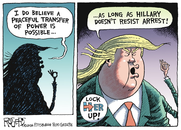 Rob Rogers Comic Strip for October 23, 2016