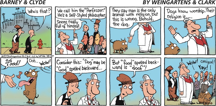 Barney & Clyde Comic Strip for October 27, 2013