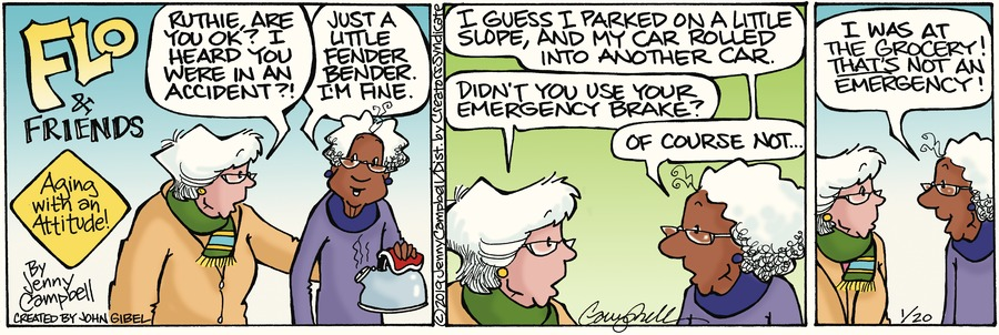 Flo and Friends Comic Strip for January 20, 2019