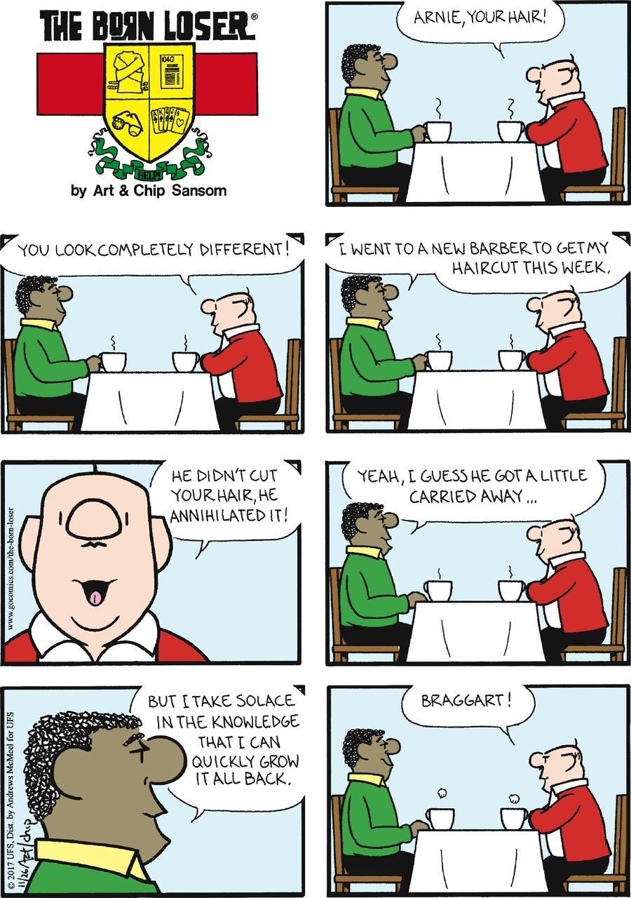 The Born Loser Comic Strip for November 26, 2017