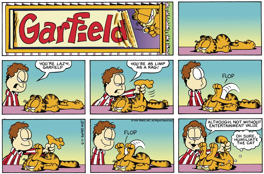 Garfield Comic Strip for November 03, 1996