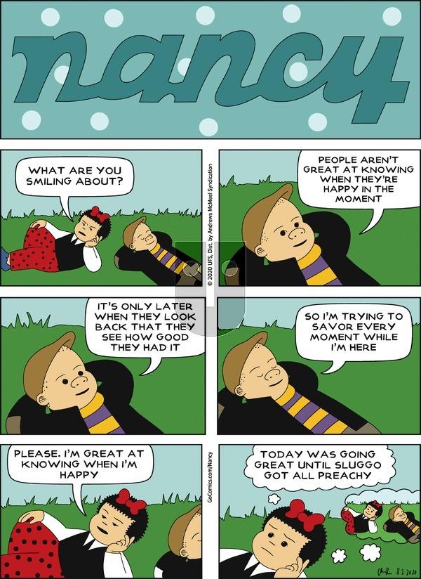 Nancy - Sunday August 2, 2020 Comic Strip