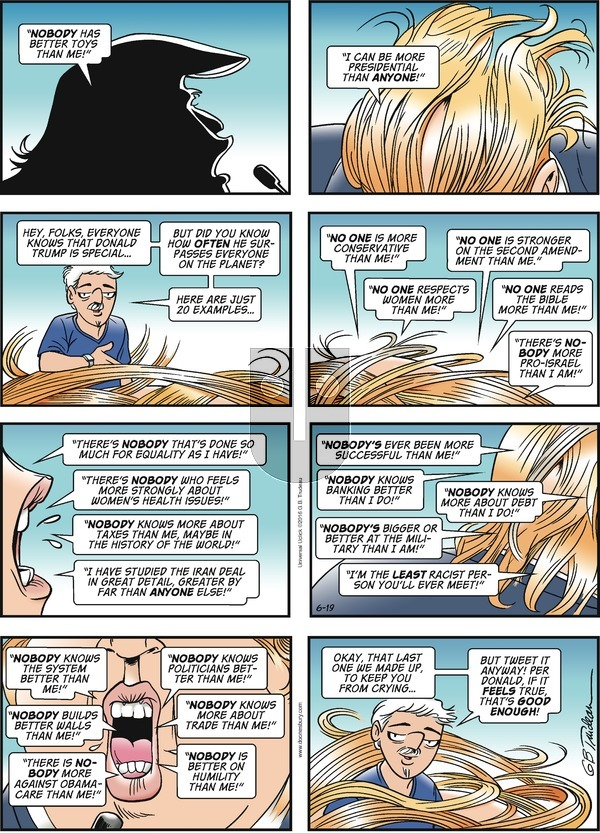 Doonesbury on Sunday June 19, 2016 Comic Strip