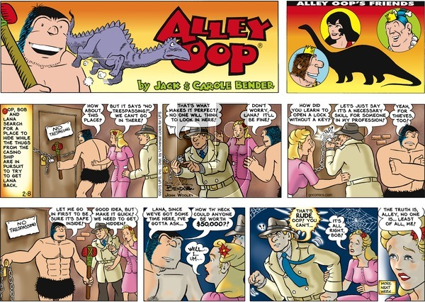 Alley Oop on Sunday February 8, 2015 Comic Strip