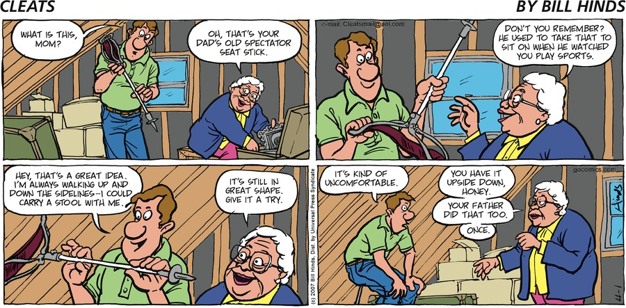 Cleats Comic Strip for April 01, 2007