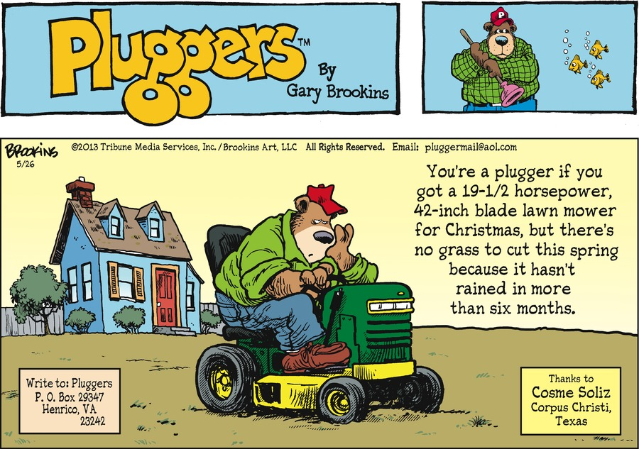Pluggers for May 26, 2013 Comic Strip
