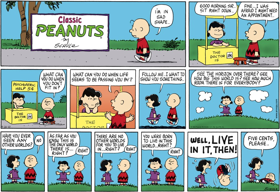Peanuts Comic Strip for September 26, 2010