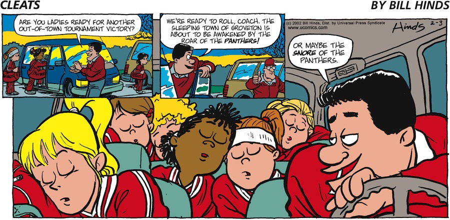 Cleats Comic Strip for February 03, 2002