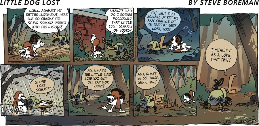 Little Dog Lost for Apr 28, 2013 Comic Strip
