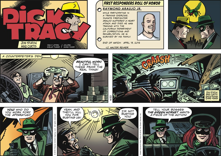 Dick Tracy Comic Strip for April 22, 2018