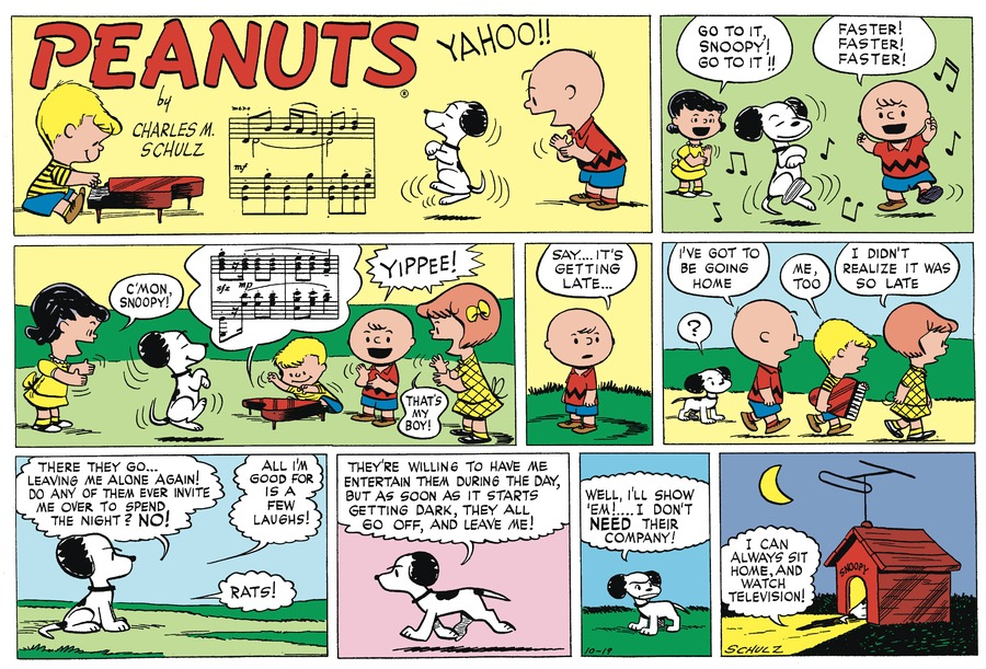 Peanuts Begins Comic Strip for October 17, 2020