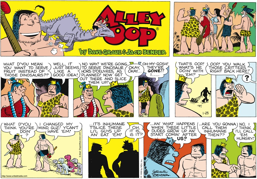 Alley Oop for Jan 25, 1998 Comic Strip