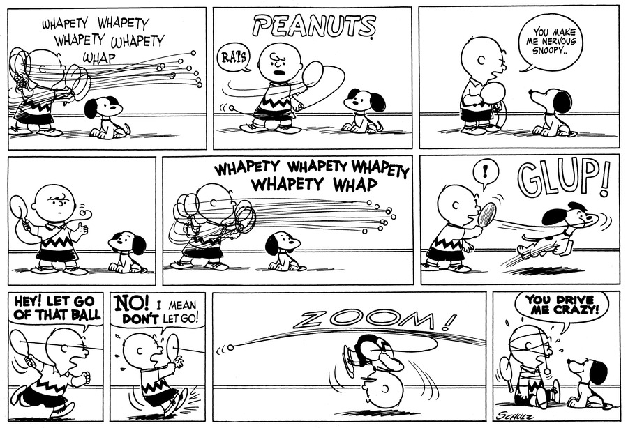 Peanuts Comic Strip for January 09, 1955