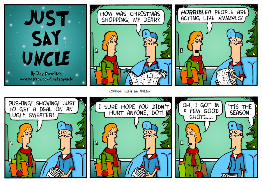 Just Say Uncle Comic Strip for November 25, 2018