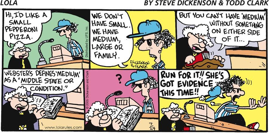 Lola for Jul 24, 2005 Comic Strip