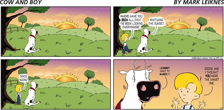 Cow and Boy Classics Comic Strip for October 21, 2019