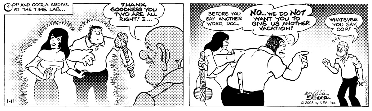 Alley Oop for Jan 11, 2005 Comic Strip