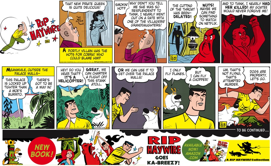 Rip Haywire Comic Strip for November 08, 2015