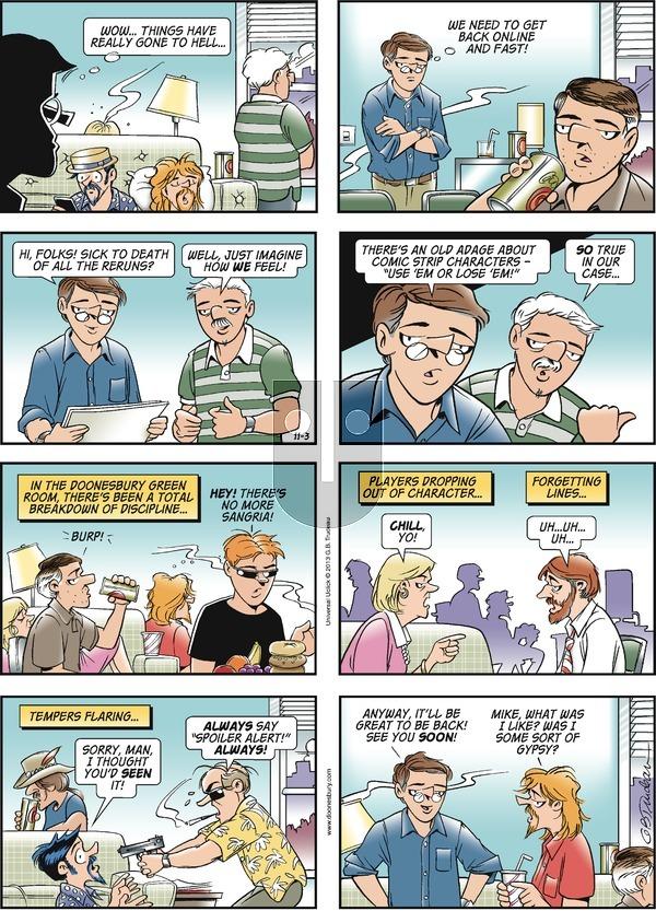 Doonesbury on Sunday November 3, 2013 Comic Strip