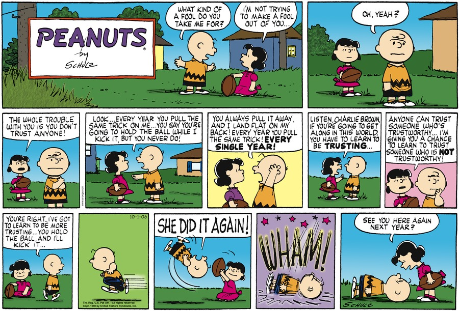 Peanuts Comic Strip for October 01, 2006