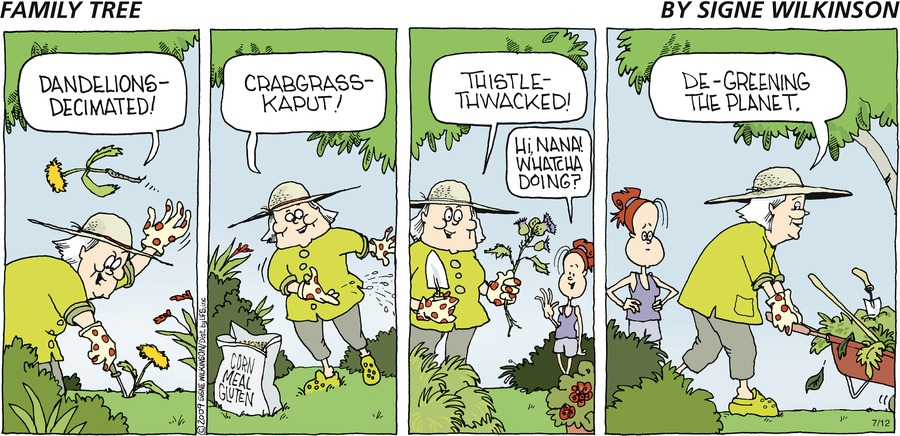 Family Tree Comic Strip for July 12, 2009