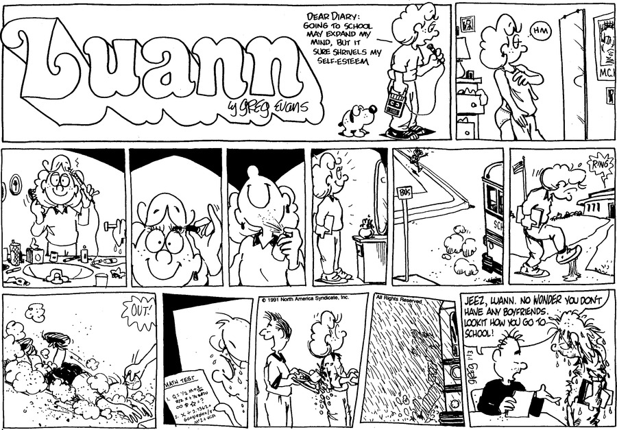 Luann Againn Comic Strip for January 13, 2019