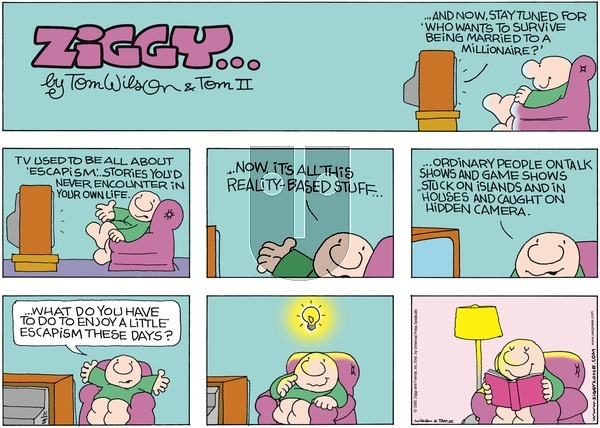 Ziggy on Sunday November 5, 2000 Comic Strip