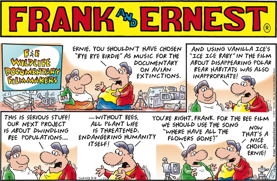 Frank and Ernest Comic Strip for March 12, 2017